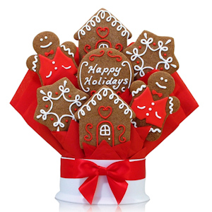 Gingerbread Holiday Cookie Bouquet Delete imagerjs
