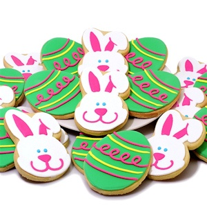 Easter Bunny & Decorated Egg Cookie Box Delete imagerjs