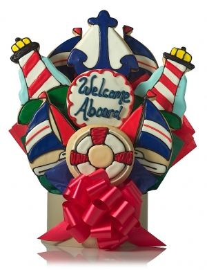 Anchors Away Cookie Bouquet Delete image