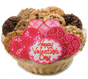 Happy Valentine's Day Deluxe Cookie Basket Delete imagerjs