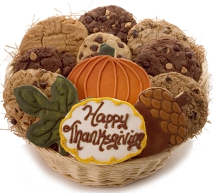 Happy Thanksgiving Basket of Cookies Delete image