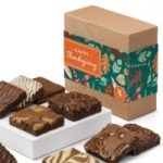 Happy Thanksgiving Gourmet Brownie Gift Box