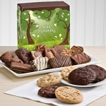 With Sympathy Brownie & Cookie Gift Box