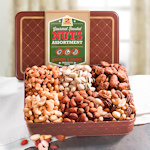 Sweet and Savory Nut Assortment Gift Tin