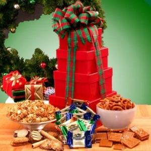 Holiday Sweets & Treats Tower of Gift Boxes imagerjs