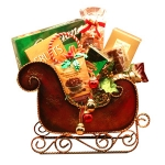 Season's Greetings Holiday Sleigh Basket