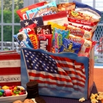 Red White & Blue Gift Box