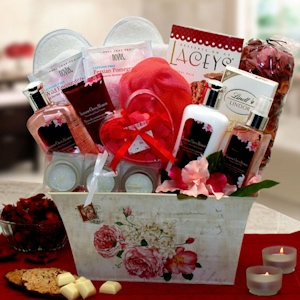 Cherry Blossom Spa Gift Basket for Mom imagerjs