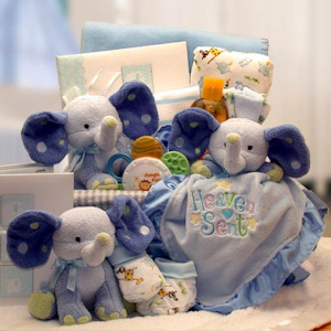 A Baby Is Heaven Sent Gift Basket imagerjs
