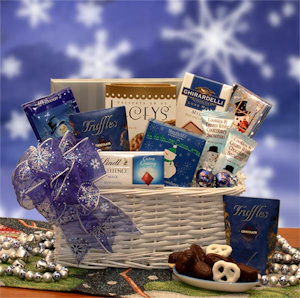 Jack Frost Holiday Chocolate Gift Basket imagerjs