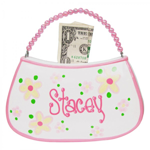 Personalized Beaded Handle Purse Bank imagerjs