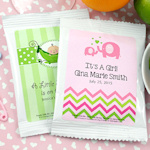 Personalized Baby Shower Cosmopolitan Drink Mix Favors