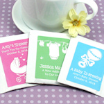 Personalized Baby Silhouette Tea Bag Favors