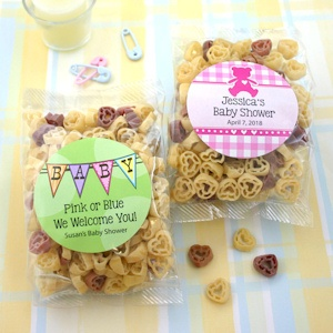Baby Shower Personalized Heart Shaped Pasta Favors imagerjs
