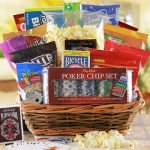 Poker Time Gift Basket