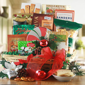 Cheerful Holiday Gift Basket imagerjs