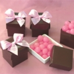Chocolate Brown Mini Favor Boxes (Set of 12)