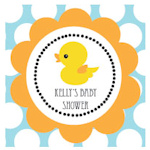Rubber Ducky Personalized Square Favor Tags