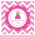 Princess Party Personalized Square Favor Tags