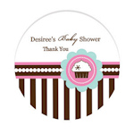 Cupcake Party Personalized Round Labels