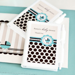 Personalized Blue Carriage Notebook Favors
