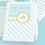 Blue Elephant Personalized Notebook Favors