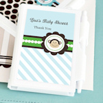 Blue Monkey Party Personalized Notebook Favors