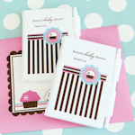 Cupcake Party Personalized Notebook Favor
