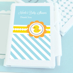 Rubber Ducky Personalized Baby Shower Notebook Favors