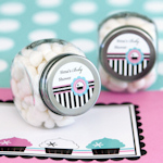 Cupcake Party Personalized Candy Jars