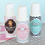 Personalized Baby Shower Sunscreen Favors