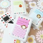 Baby Animals Personalized Playing Card Favors