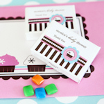 Cupcake Party Personalized Gum Boxes