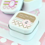 Birdcage Party Personalized Square Candle Tins