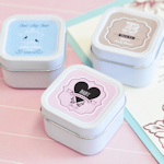 Vintage Baby Personalized Square Candle Tins