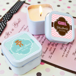 Baby Shower Square Candle Tins