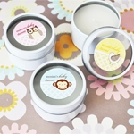 Personalized Baby Animals Round Candle Tin Favors