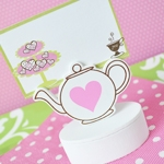 Teapot Place Card Holder Favor Box (Set of 12)