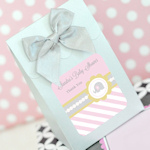 Pink Elephant Baby Shower Favor Boxes (Set of 12)
