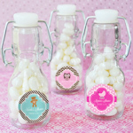 Baby Shower Personalized Mini Glass Bottle Favors