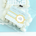 Blue Elephant Personalized Jelly Bean Packs