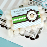 Blue Monkey Party Personalized Jelly Bean Packs