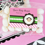 Pink Monkey Party Personalized Jelly Bean Packs