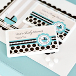 Personalized Blue Baby Carriage Mini Mint Favors