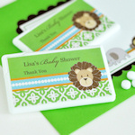 Personalized Jungle Safari Mini Mint Favors