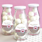Cupcake Party Personalized Milk Bottles