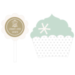 Birdcage Party Cupcake Wrappers & Cupcake Toppers -Set of 24