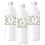 Birdcage Party Personalized Water Bottle Labels