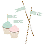 Birdcage Party Personalized Flag Labels