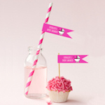 Personalized Baby Shower Flag Labels